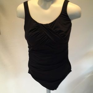 Land's End size 10 one piece black swimsuit